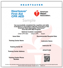 cpr florida cpr aed first aid class american heart ecard
